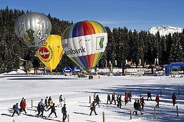 Arosa balloon festival, Grisons, Switzerland