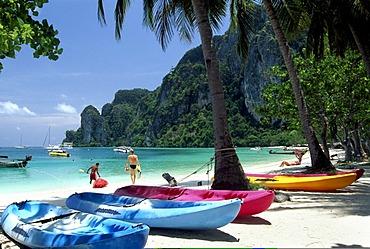 Canoe rental, Kho Phi Phi, Thailand