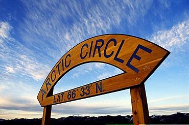 Dalton Highway, Arctic Circle, sign, Alaska, USA