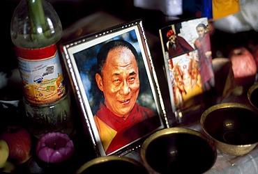 Dalai Lama postcard, Thikse Monastery, Leh, Himachal Pradesh, India, Asia