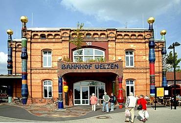 Hundertwasser railroad station in Uelzen