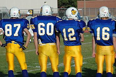 Football team, Cody, Wyoming, USA, North America