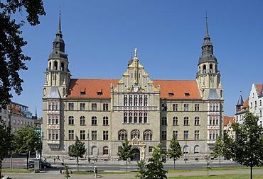 Regional court, Rathausstrasse Street, Halle/Saale, Saxony-Anhalt, Germany, Europe