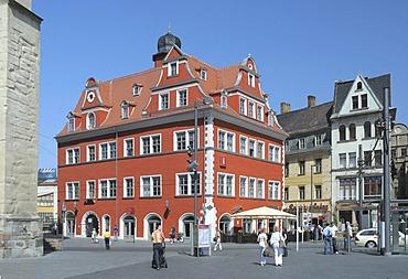 Building containing tourist information about Halle, Marktplatz Square, Halle/Saale, Saxony-Anhalt, Germany, Europe