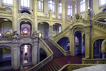 Stair cases of the Berlin court house, Alt-Moabit, Berlin, Germany