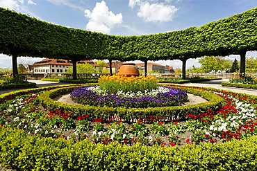 Gardens, Buergermeister garden, historic city centre, Nuremberg, Franconia, Bavaria, Germany, Europe