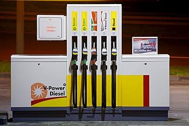Petrol pump, nightshot, hdr, dri