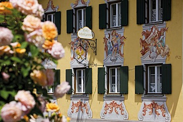 Wall-painting, Oberammergau, Upper Bavaria, Germany, Europe