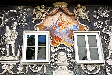Lueftlmalerei, frescos or house paintings, Garmisch-Patenkirchen, Werdenfelser Land, Upper Bavaria, Bavaria, Germany, Europe