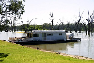 Housboat on the Murray river, Renmark, south Australia
