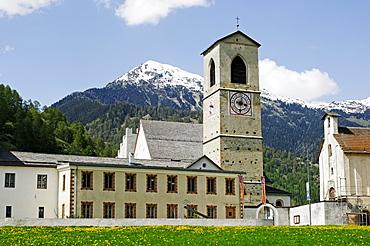St. Johann Benedictine Monastary, World Cultural Heritage, in Muestair, Val Muestair, Muenstertal, in Engadin, Graubuenden, Switzerland, Europe