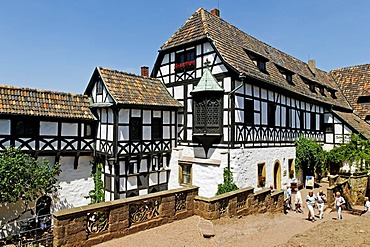 Bailiwick in the inner ward of the Wartburg Castle in Eisenach, Thuringia, Germany, Europe