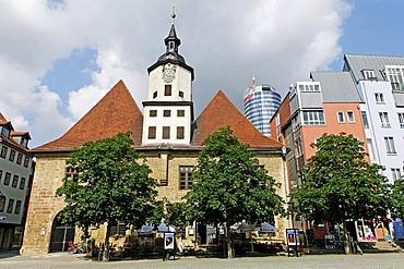 City Hall on the market square of Jena, Thuringia, Germany, Europe