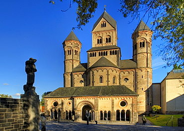 The abbey church of the Benedectine monastery of Maria Laach, Germany, Rhineland-Palantine