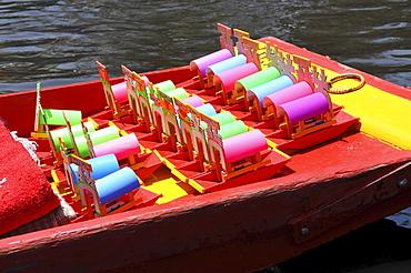 Boats, Trajineras, Xochimilco, Mexico City, Mexico, North America