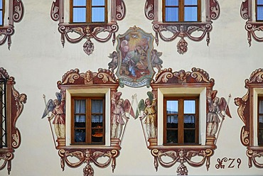 Old house facade, St. Wolfgang in the Salzkammergut resort area, Austria, Europe