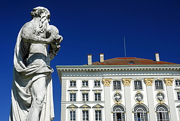 Sculpture and Detail of Nymphenburg Palace, Munich, Bavaria, Germany