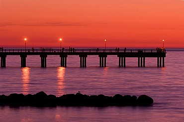 Old pier in Palange, Lithuania