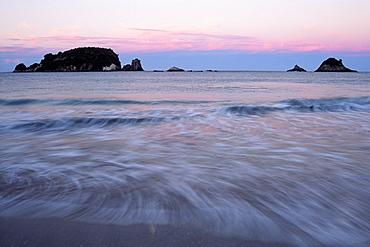 Twilight on the coast of Coromandel Peninsula, North Island, New Zealand