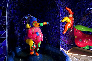 The historical Grotto at the Herrenhaeuser Gaerten near hanover, redesigned by Niki de Saint Phalle for EXPO 2000 hanover lower saxony germany