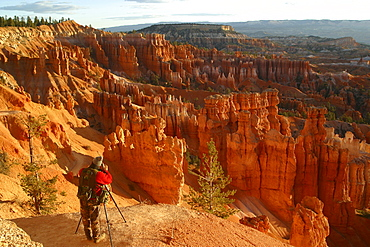Photographer in Bryce Canyon Utah United States of America USA