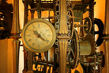 Old mechanical clock, cathedral of Sevilla, Andalusia, Spain, Europe