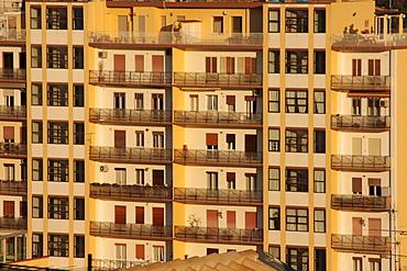 Apartment block in Cagliari, Sardinia, Italy, Europe