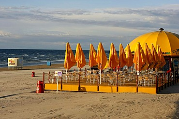 Cafe on the beach in Jurmala, Latvia, Baltic region, Europe