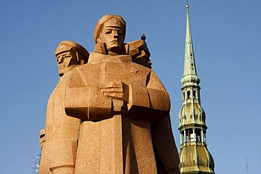 Memorial for the red Latvian riflemen in Riga, Latvia, Baltic states