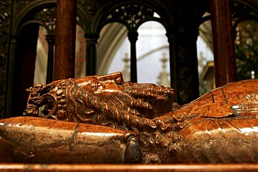 Tomb in the cathedral on the Wavel Hill in Krakow, Poland, Europe