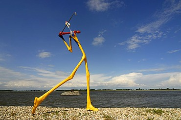 Golf player statue at the Danubiana Gallery of Modern Art, Meulensteen Art Museum, Cunovo, Bratislava, Slovakia, Europe