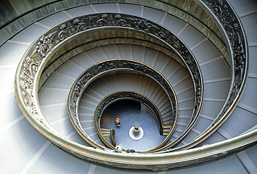 Museum in the Vatican, spiral staircase, Vatican, Rome, Latium, Italy, Europe
