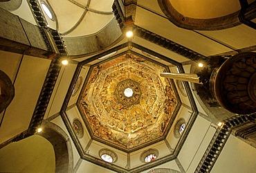 Ceiling fresco The Last Judgement by Giogio Vasari, cupola inside, Basilica di Santa Maria del Fiore, Florence, Frienze, Tuscany, Italy, Europe