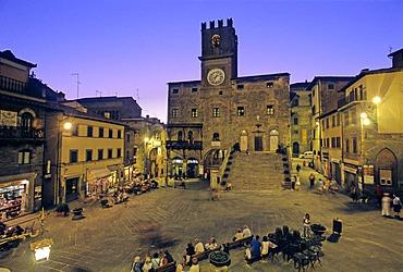 Palazzo del Popolo, Piazza della Repubblica, Cortona, Province of Arezzo, Tuscany, Italy, Europe