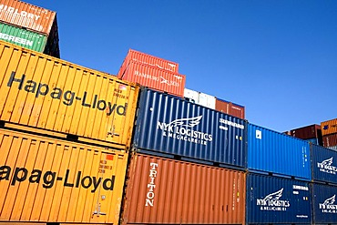 Overseas container, Port of Hamburg, Germany