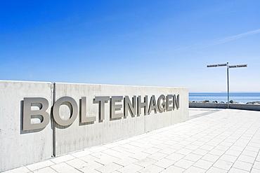 Boltenhagen lettering in the Marina Hotel Resort, Boltenhagen, Mecklenburg-Western Pomerania, Germany, Europe