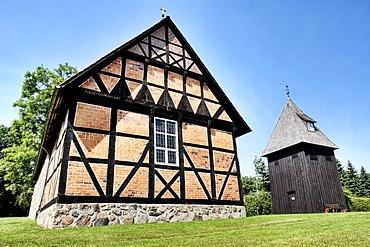 St. Magdalena Chapel in Undeloh, Lueneburg Heath Nature Reserve, Lower Saxony, Germany, Europe