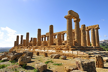 Hera Temple, Juno Lacinia Temple, Valle dei Templi, Valley of Temples, Agrigento, Sicily, Italy, Europe