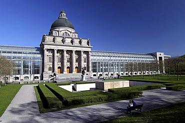 Bavarian State Chancellery, Hofgarten, Munich, Upper Bavaria, Bavaria, Germany