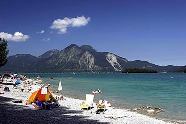 South bank, Walchensee, Upper Bavaria, Germany