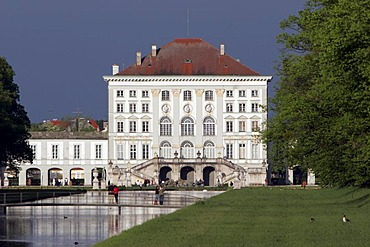 Back view of the Castle Nymphenburg in Munich, Upper Bavaria, Bavaria, Germany