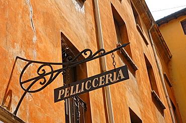 Facade of a house, Pisa, Italy, Europe