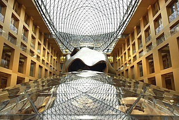 DZ-bank, inner court with meeting room, architect Frank O. Gehry. Berlin, Germany