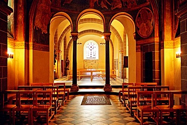 Roman double church in Bonn. Interior view. Germany.