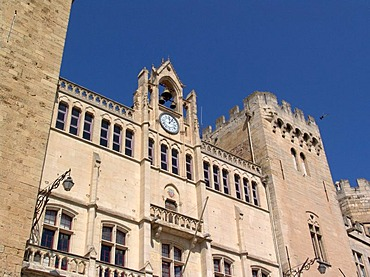 Narbonne, Palais des Archeveques, former medieval bishop palace, today city hall and museum, France, Southern France.