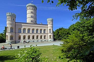 Granitz castle, hunting seat, Prince of Putbus, Ruegen, Mecklenburg Western-Pomerania, Germany