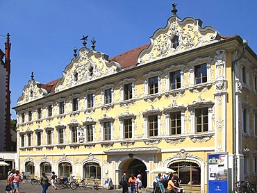 The Falkenhaus, Wuerzburg, Lower Franconia, Bavaria, Germany