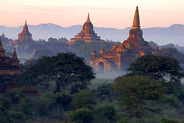 The archaeological site of Pagan, Bagan, Myanmar, Burma