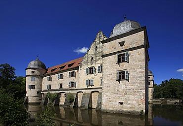 Moated castle of Mitwitz, county of Kronach, Upper Franconia, Bavaria, Germany