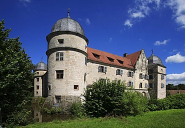 Moated castle of Mitwitz, county of Kronach, Upper Franconia, Bavaria, Germany